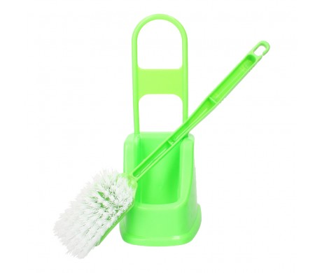 Toilet Brush and Holder (Green)